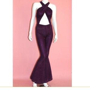 Selena Inspired Purple Jumpsuit